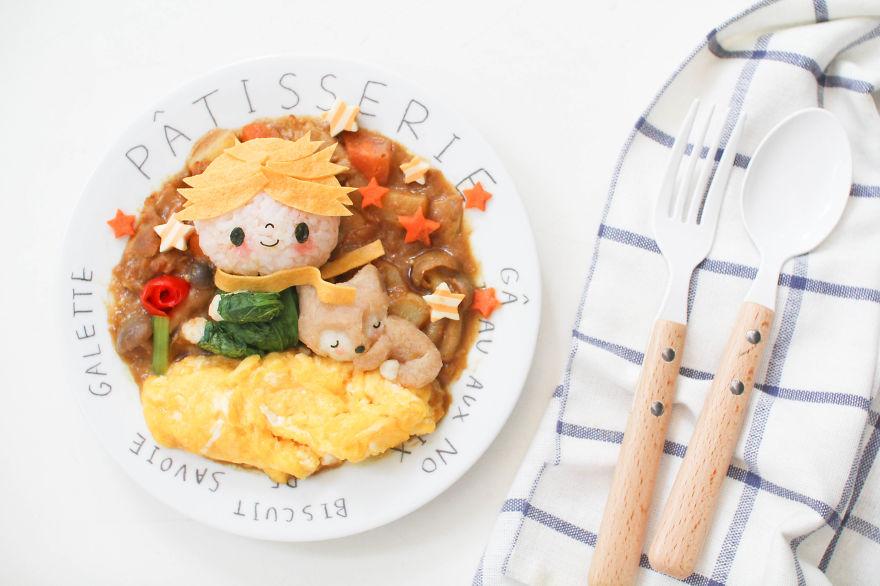 comida inspirada dibujos animados 14