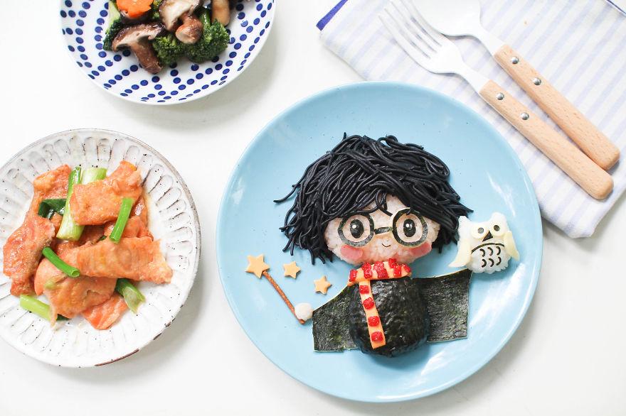 comida inspirada dibujos animados 15