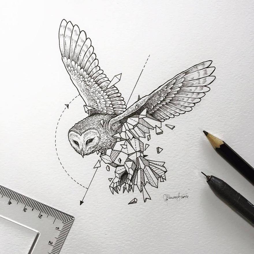 dibujos animales formas geometricas 2