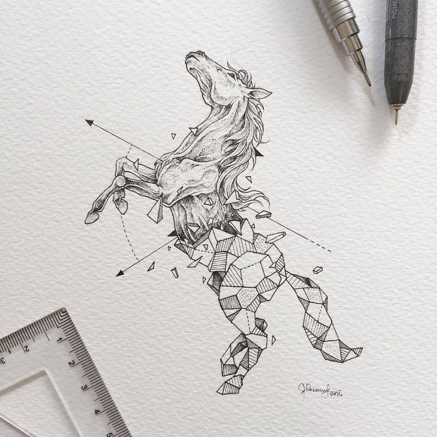 dibujos animales formas geometricas 4