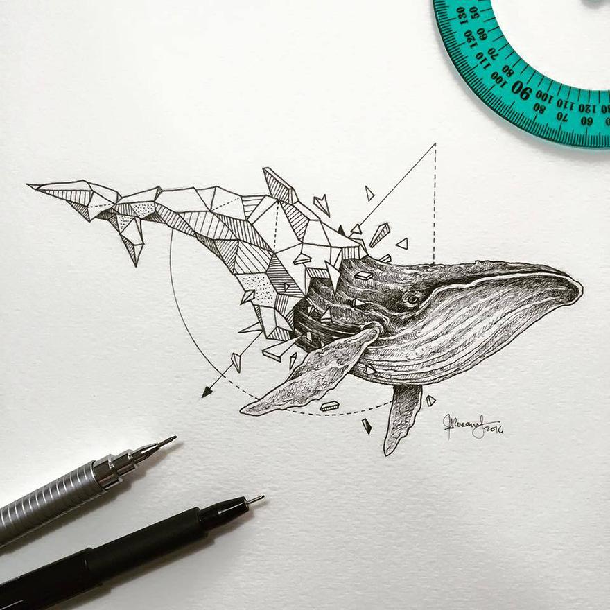 dibujos animales formas geometricas 5