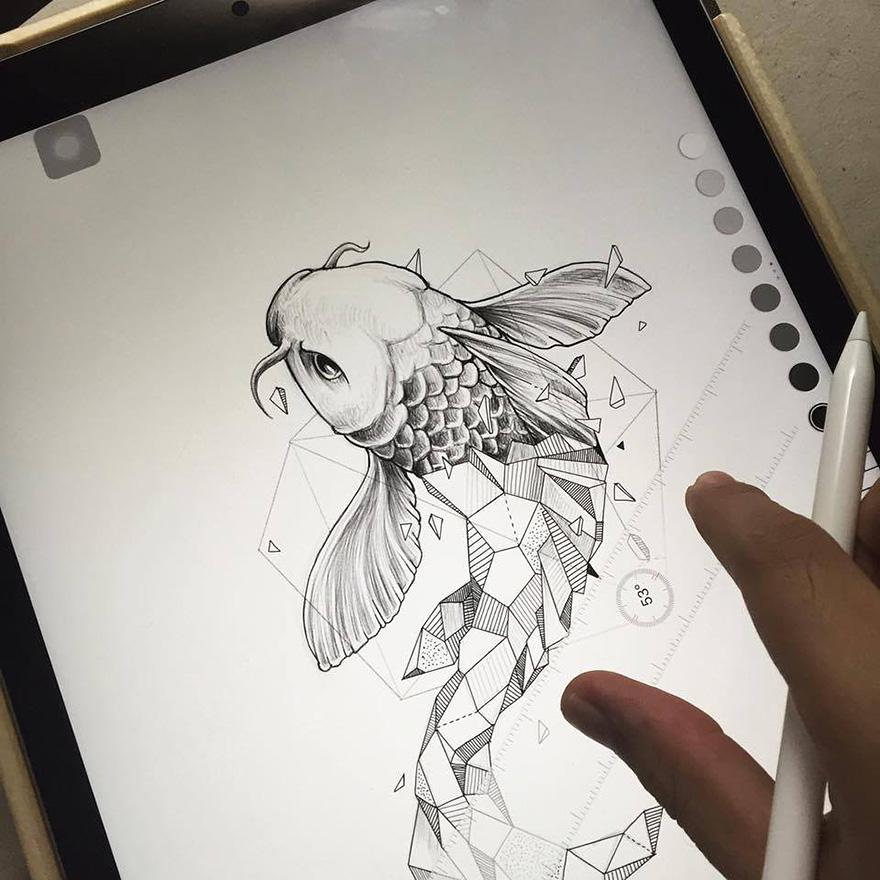 dibujos animales formas geometricas 9