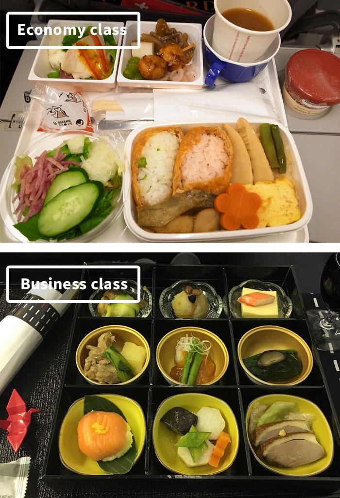 diferencias comida clase turista y business 1
