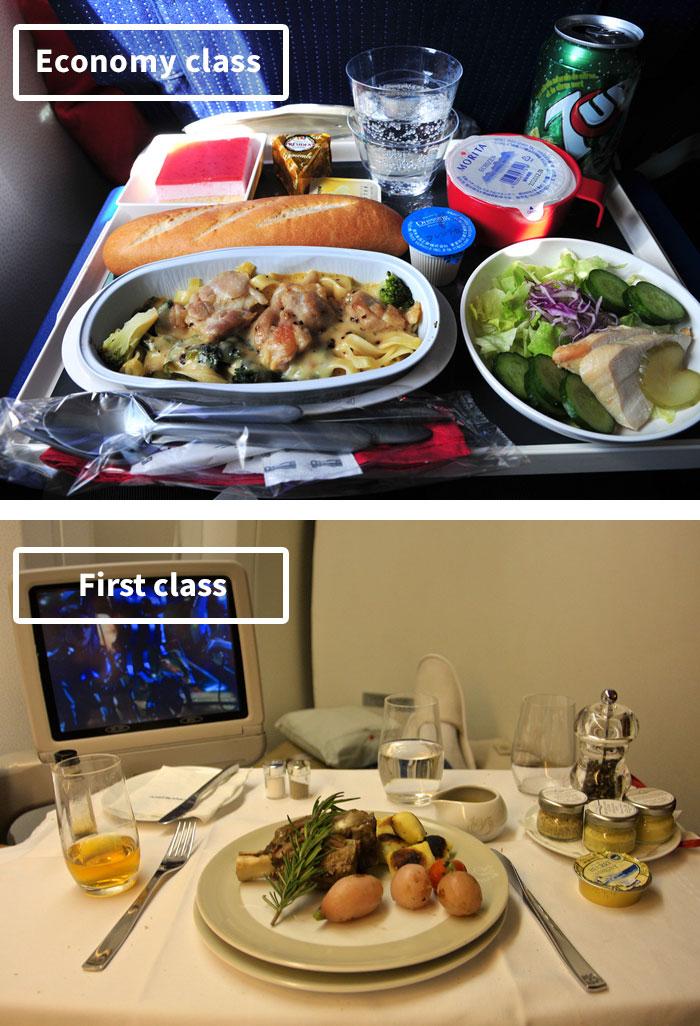 diferencias comida clase turista y business 2