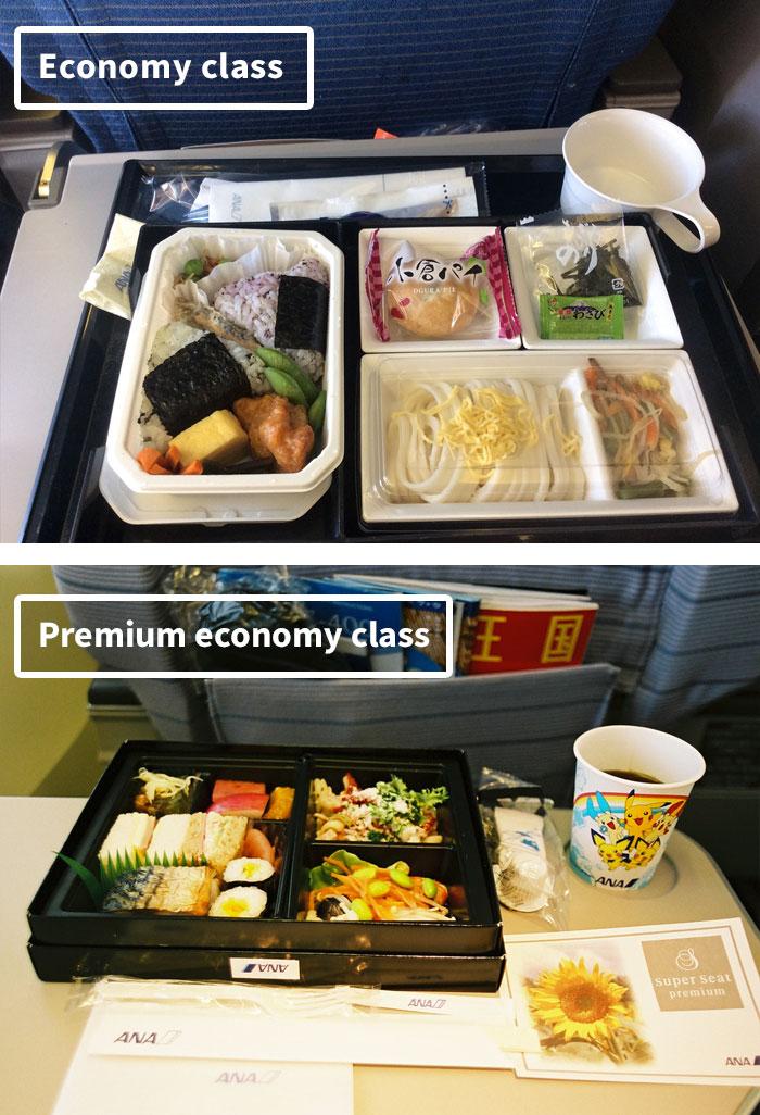 diferencias comida clase turista y business 5