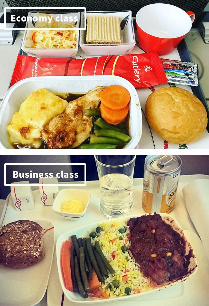 diferencias comida clase turista y business 7