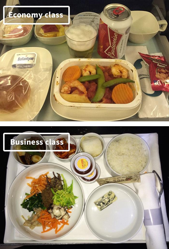 diferencias comida clase turista y business 8