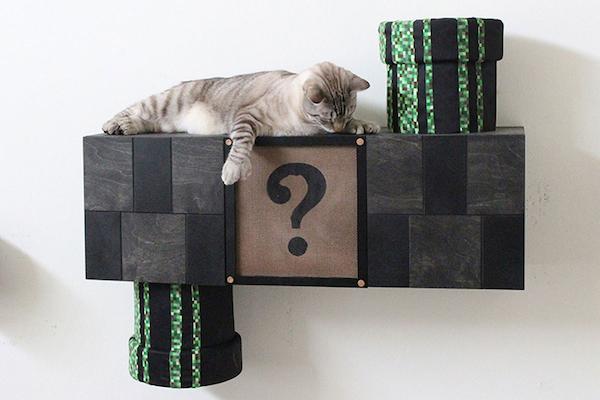 06ac595b057e Mueble para gatos a lo Super Mario - Donvago.com