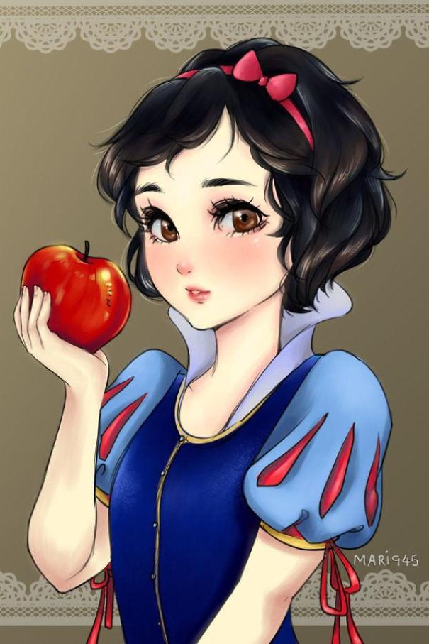 princesas Disney anime 1
