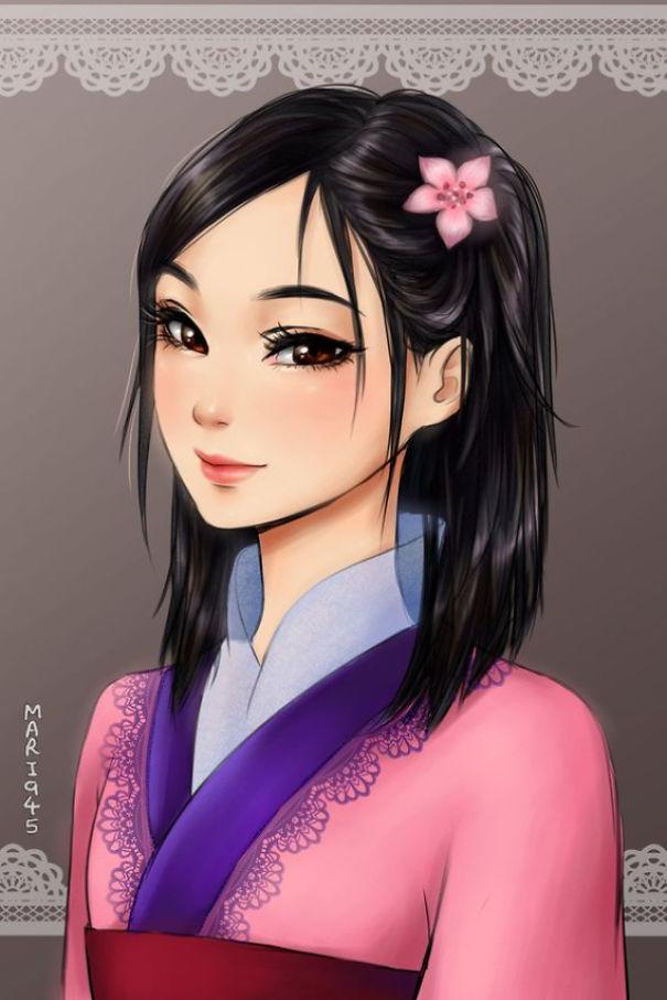 princesas Disney anime 11