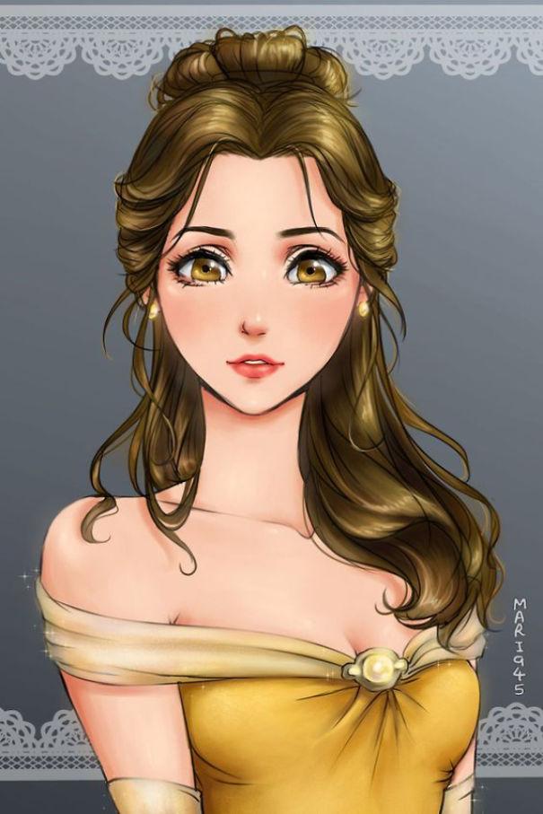 princesas Disney anime 12