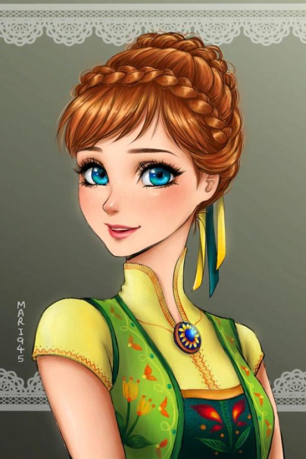 princesas Disney anime 14