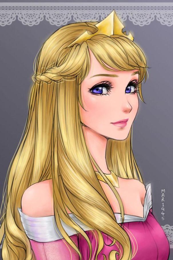 princesas Disney anime 15