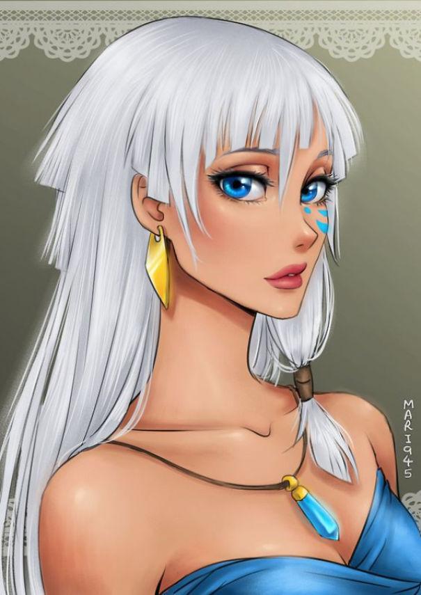 princesas Disney anime 8