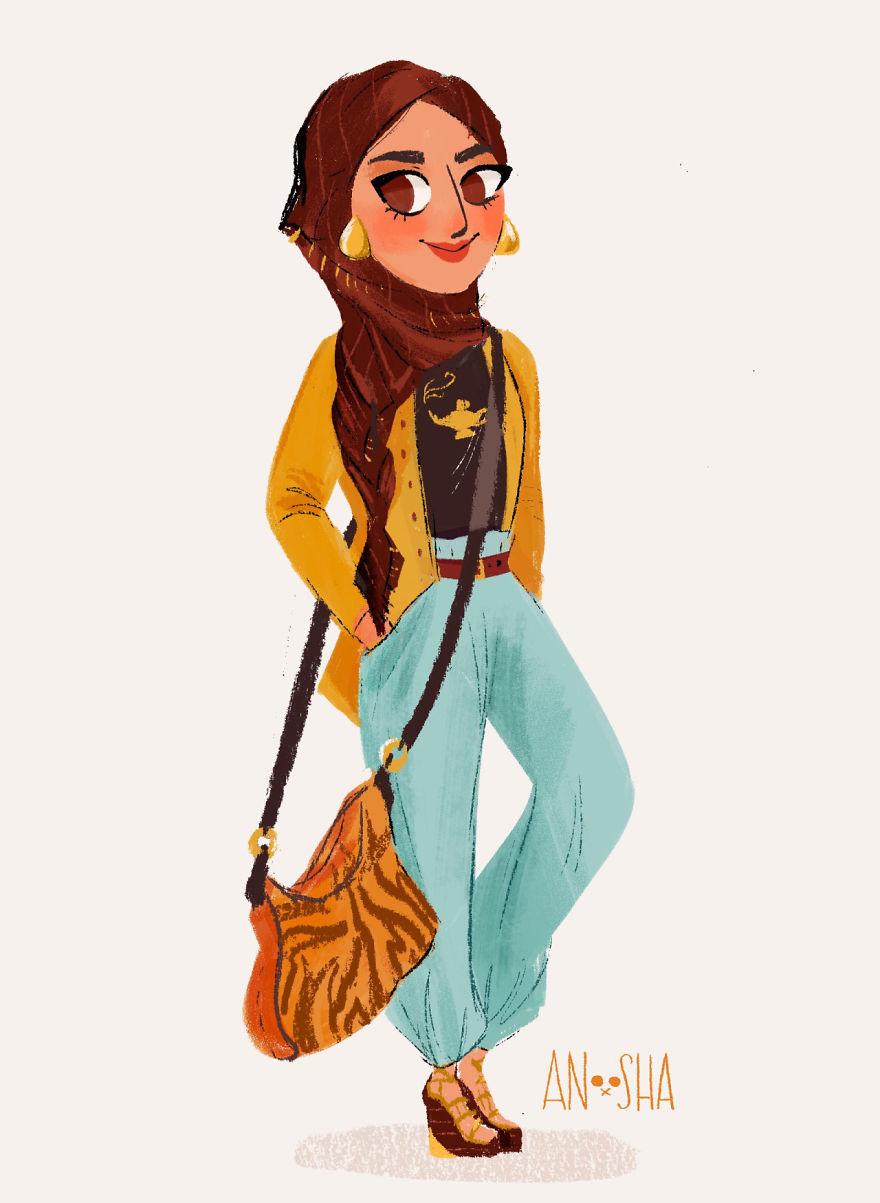 princesas Disney modernas 9