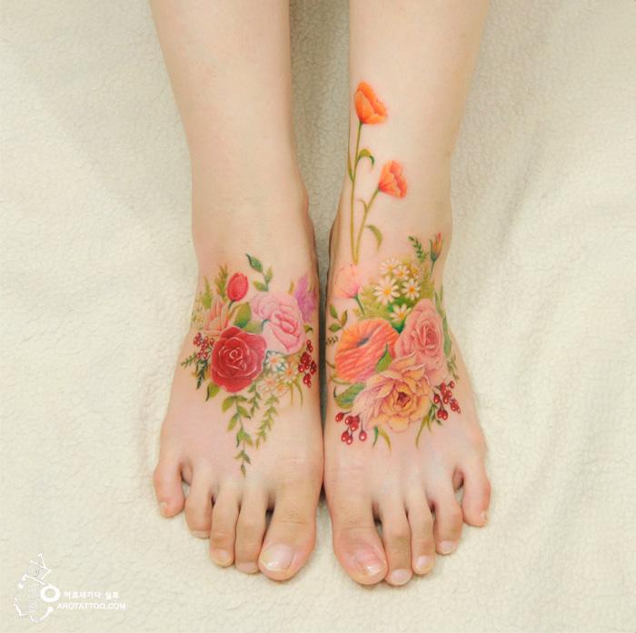 tatuajes florales 1