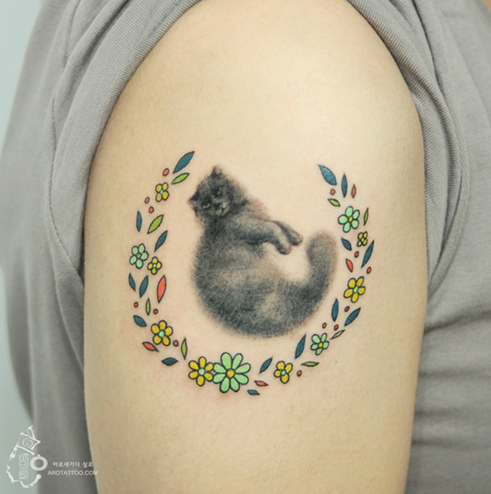 tatuajes florales 11