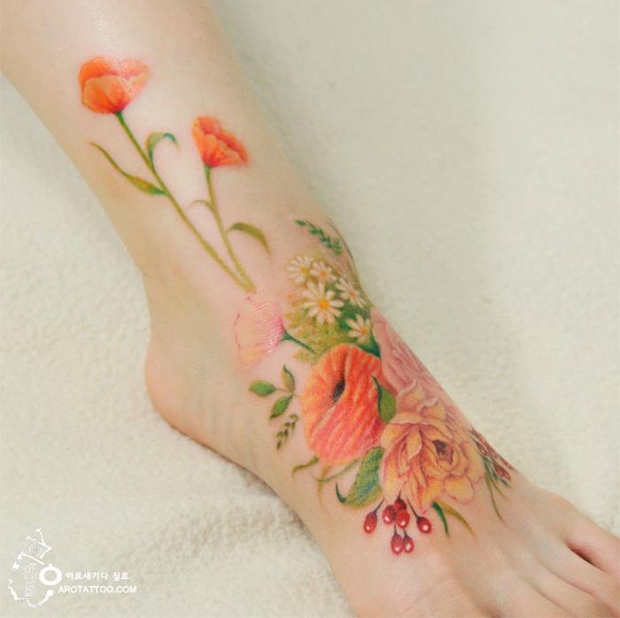 tatuajes florales 2