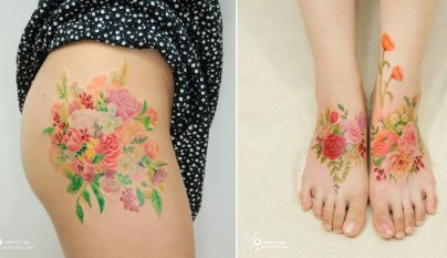 tatuajes florales 3