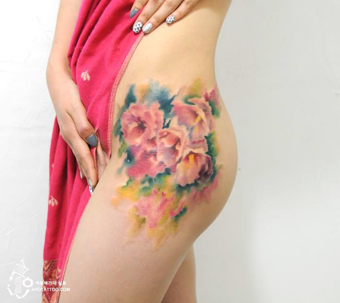 tatuajes florales 5
