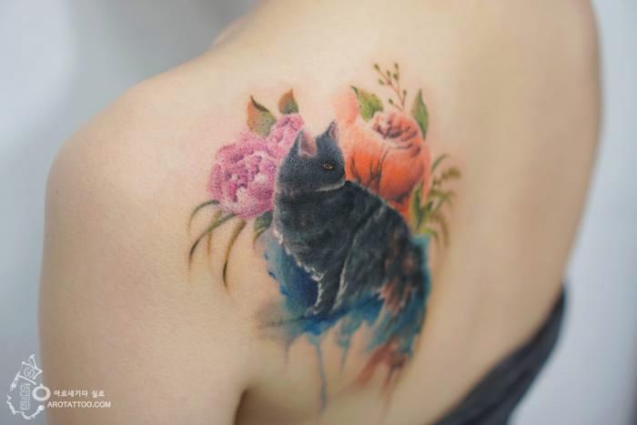 tatuajes florales 6