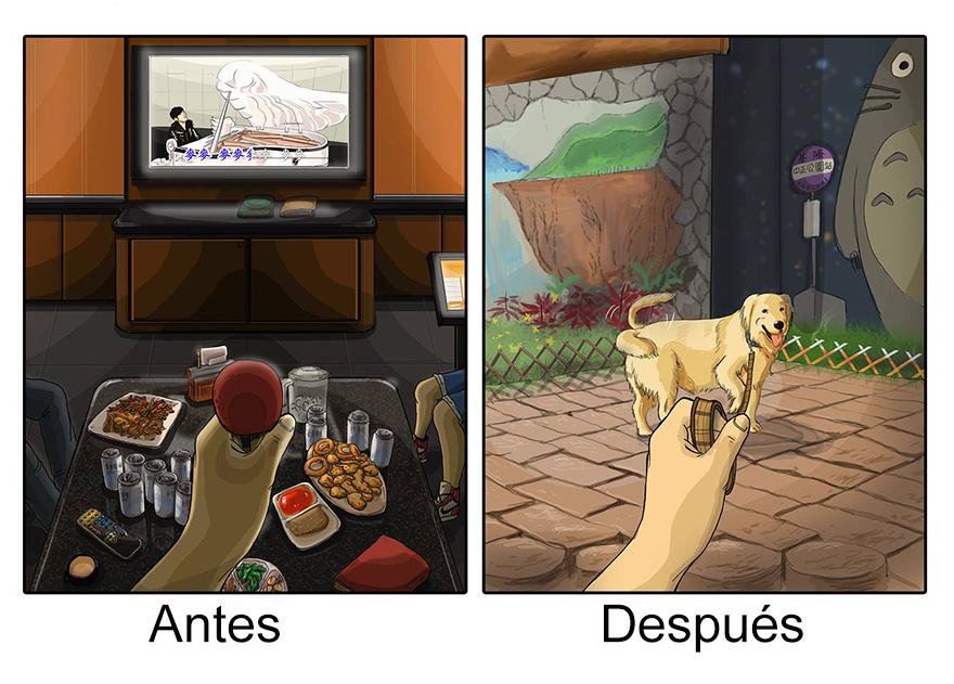 vida antes y despues tener perro 3
