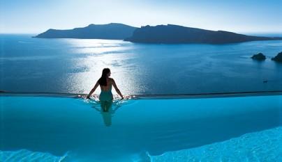 espectacular piscina desbordante