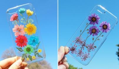 fundas para movil con flores de verdad 1