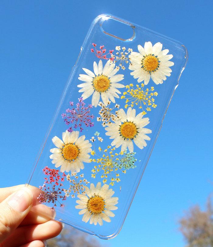 fundas para movil con flores de verdad 12