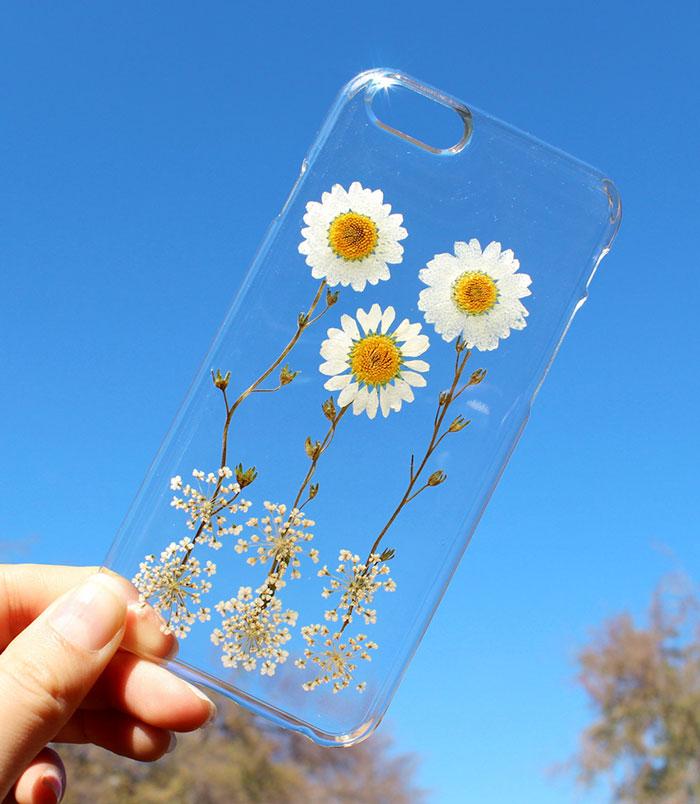 fundas para movil con flores de verdad 4