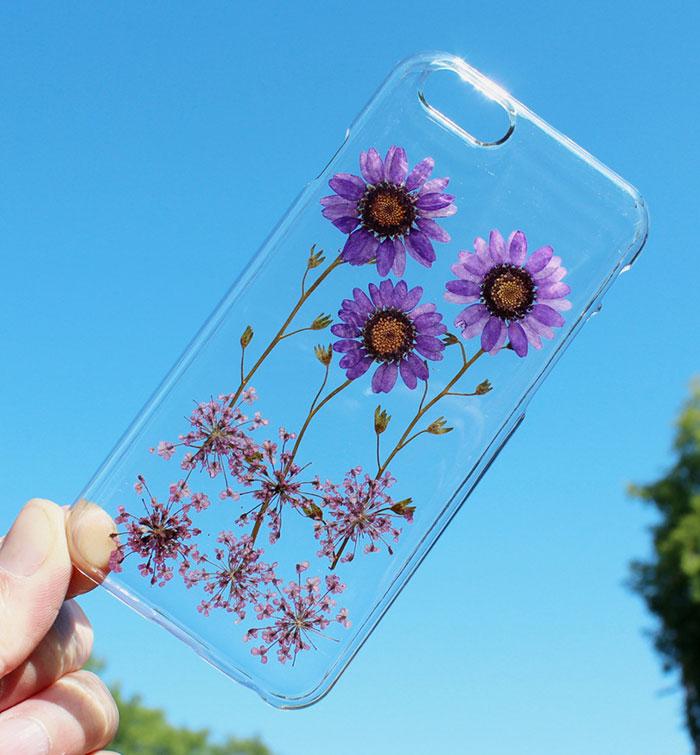 fundas para movil con flores de verdad 8