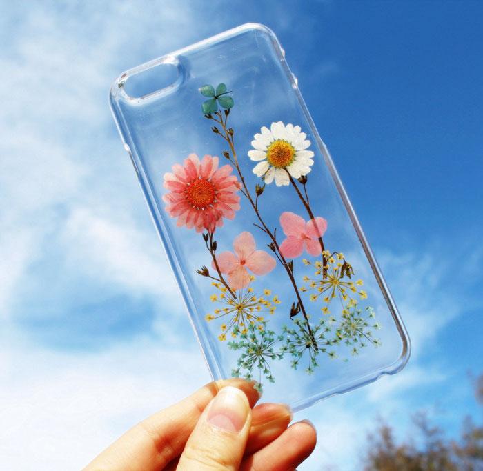 fundas para movil con flores de verdad 9