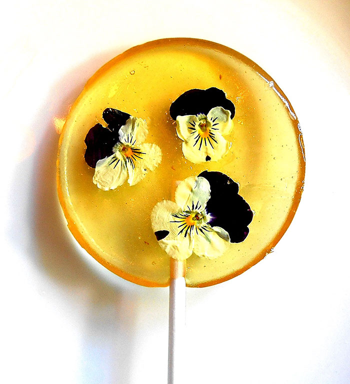 petalos de flores en piruletas 5