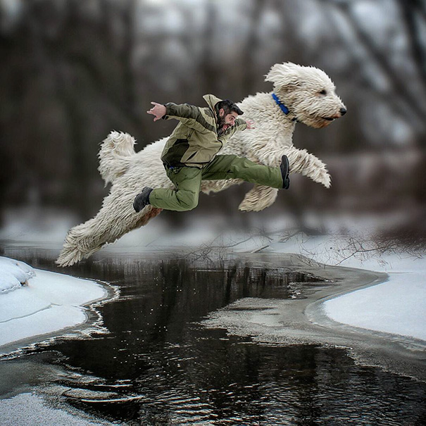 photoshop perro gigante 3