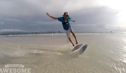 surf en la orilla