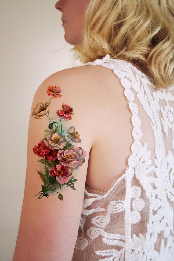 tatuajes flores dibujadas 4