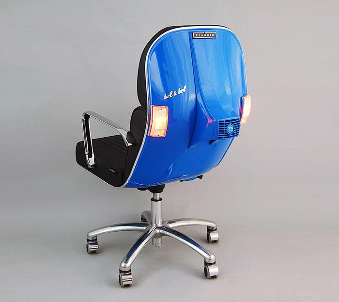 vespas convertidas en sillas de oficina 5