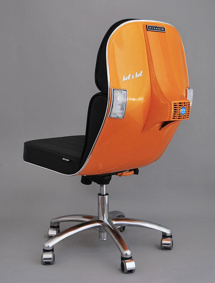 vespas convertidas en sillas de oficina 8