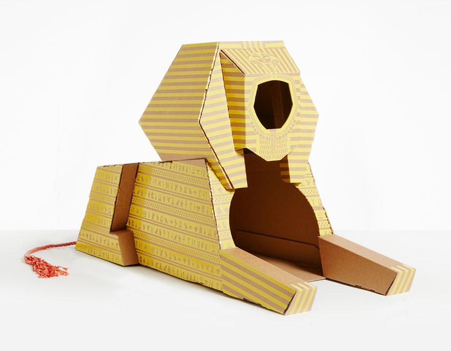casas de carton gatos monumentos 5