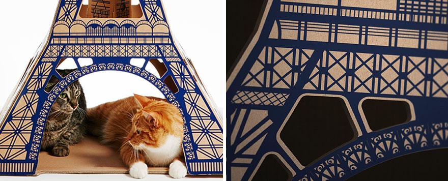 casas de carton gatos monumentos 9