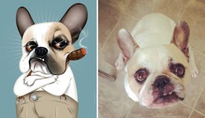dibujos retratos mascotas 1