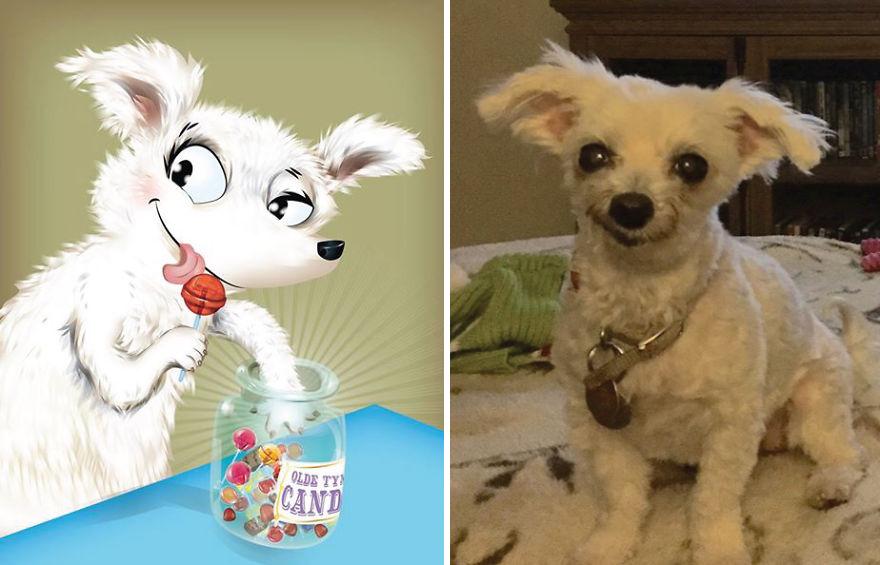 dibujos retratos mascotas 10