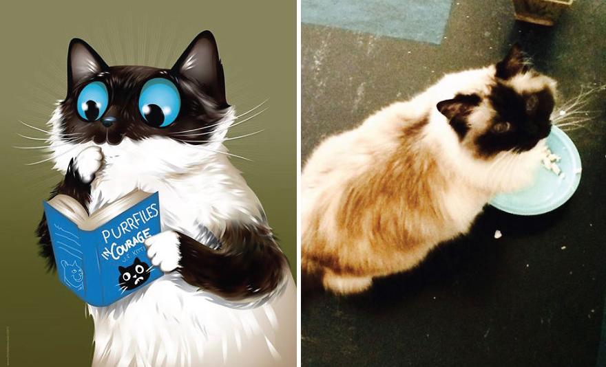 dibujos retratos mascotas 11