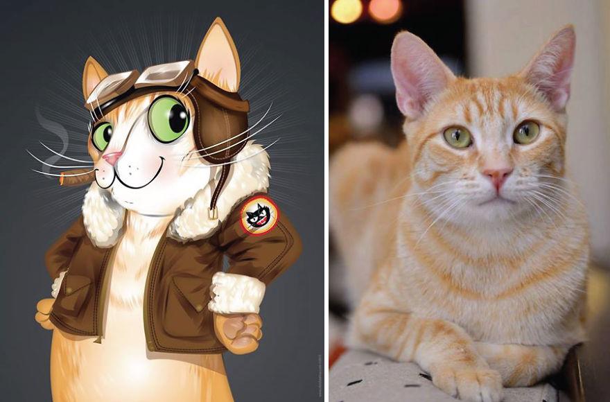 dibujos retratos mascotas 16