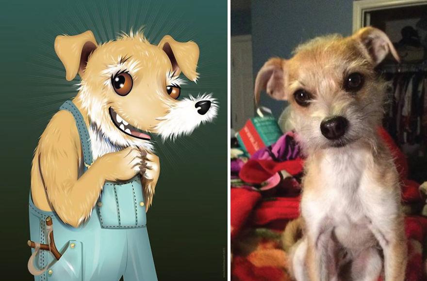 dibujos retratos mascotas 18