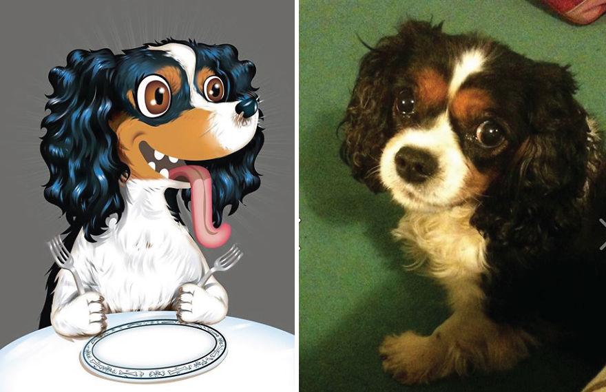 dibujos retratos mascotas 19