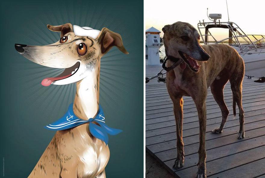 dibujos retratos mascotas 20
