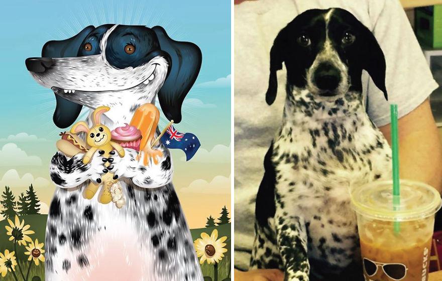dibujos retratos mascotas 3