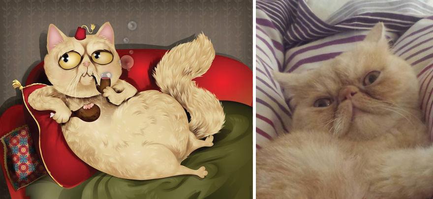 dibujos retratos mascotas 4
