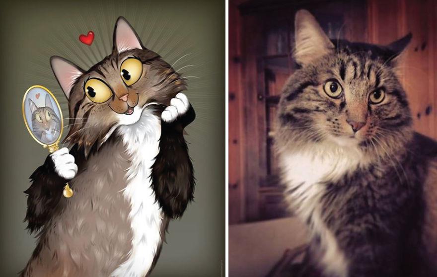 dibujos retratos mascotas 5